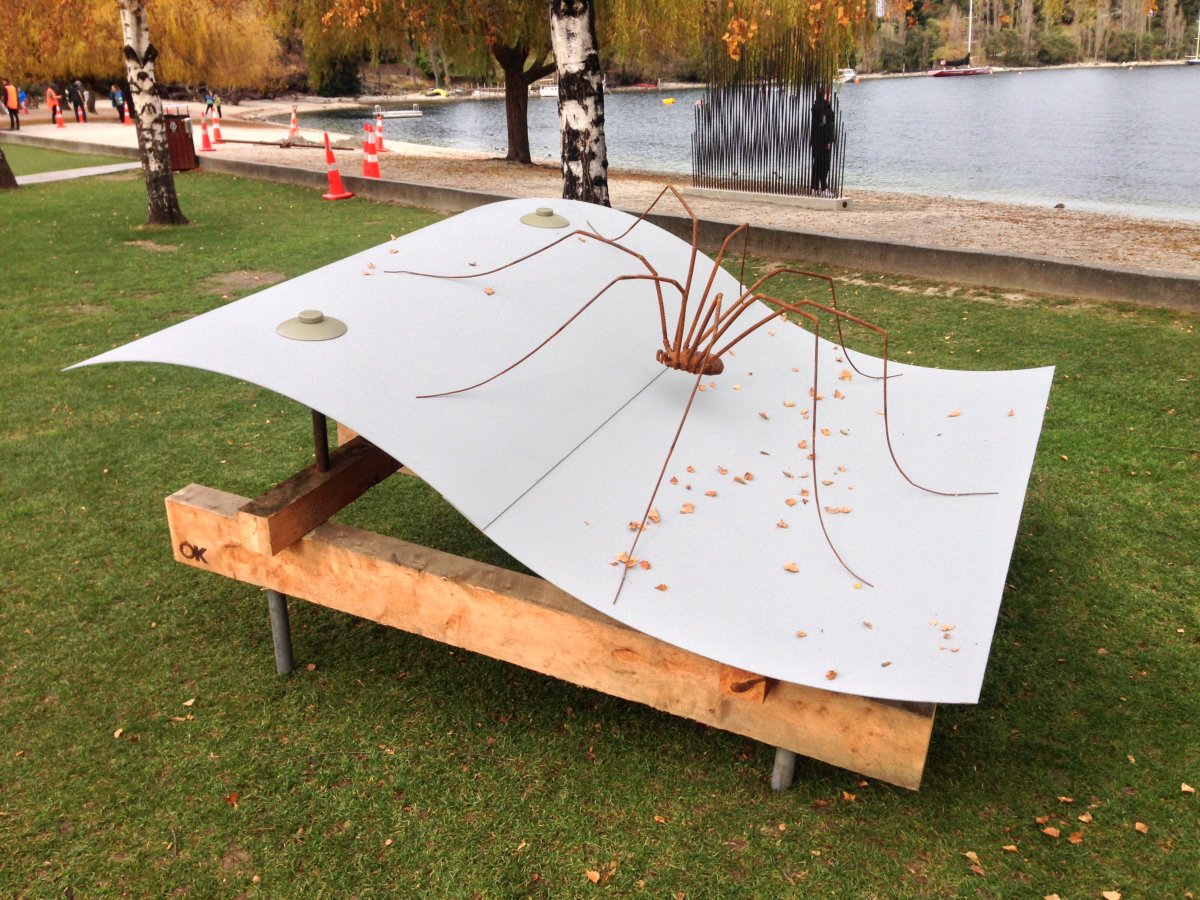 sculpture by Tony O'Keefe. Queenstown artist.