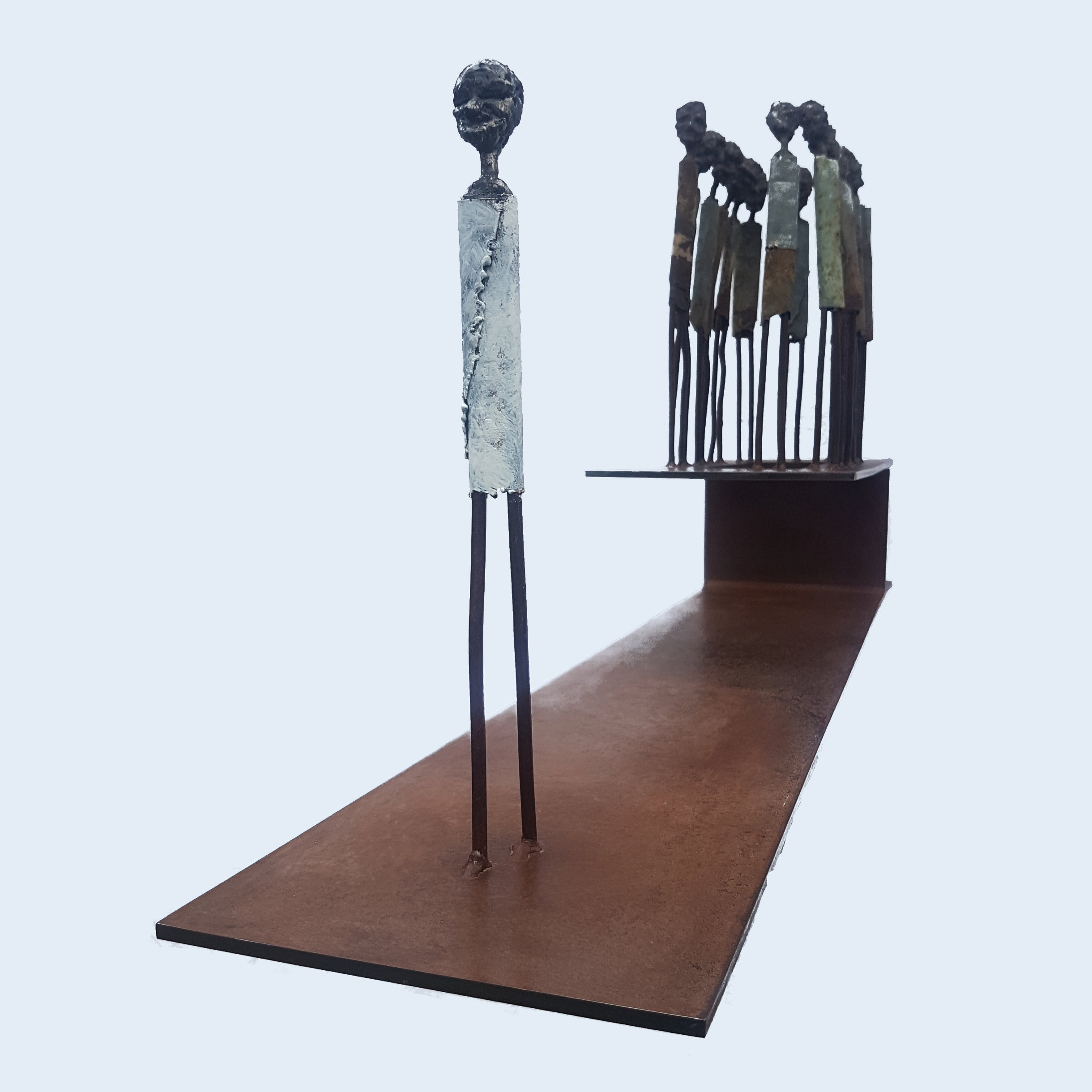 Afterlife. Steel sculpture by Tony O'Keefe. Queenstown Artist.